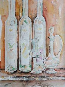<strong>Stilleben mit Flaschen III</strong>